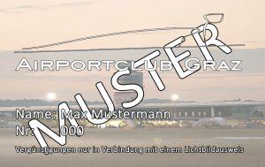 Mitgliedskarte Verein Airportclub Graz