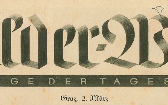 Der Flughafen Graz in der Tagespost 1930
