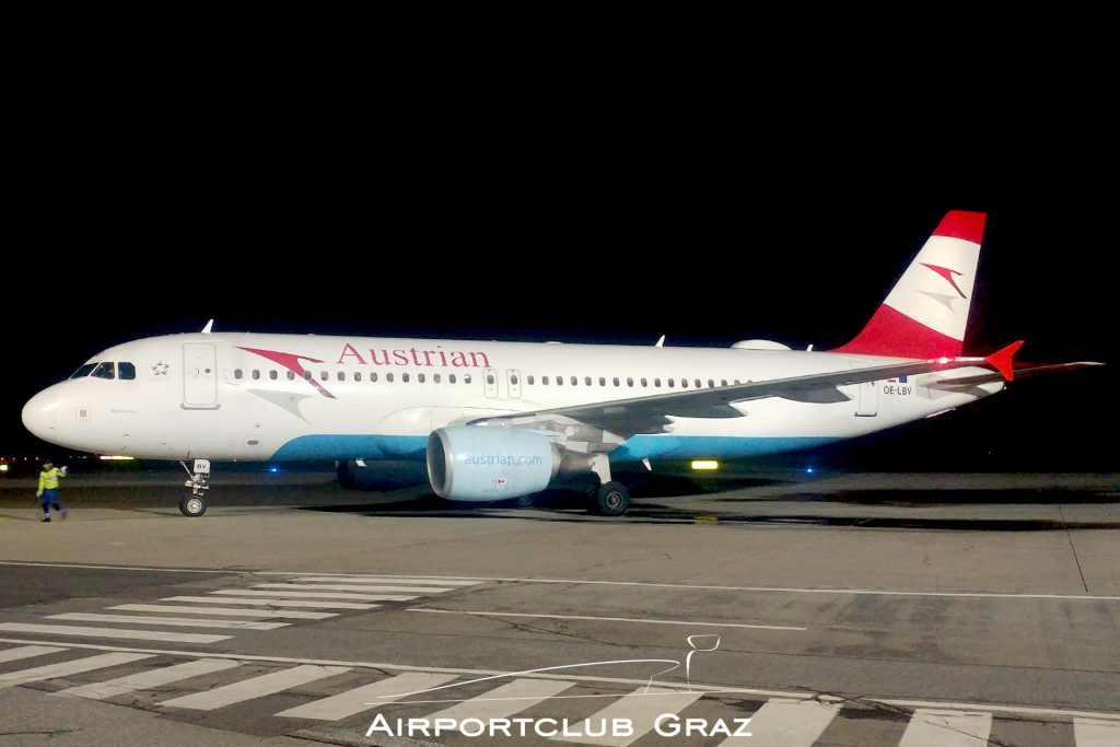 Austrian Airlines Airbus 320-214 OE-LBV