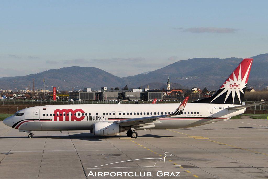 AMC Airlines Boeing 737-86N SU-BPZ