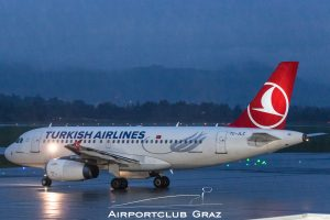 Turkish Airlines Airbus 319-132TC-JLZ
