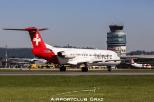 Helvetic Airways Fokker 100 HB-JVF