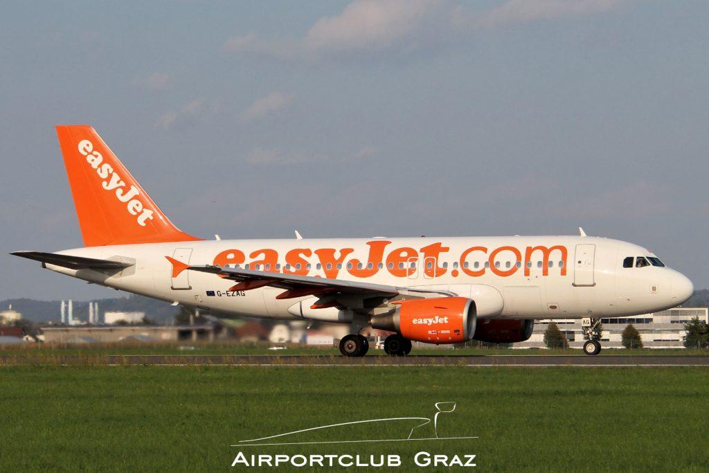 easyJet Airbus 319-111 G-EZAG