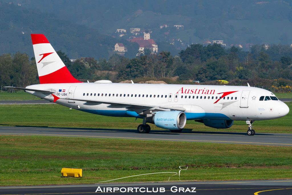 Austrian Airlines Airbus 320-214 OE-LBK