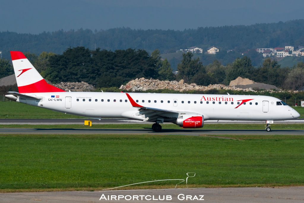 Austrian Airlines Embraer 195 OE-LWN