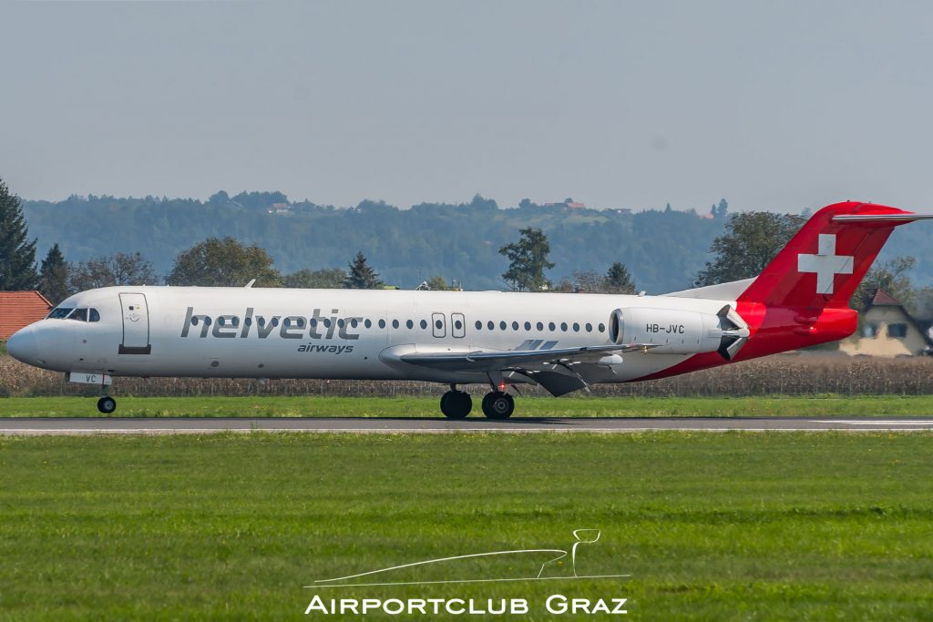Helvetic Airways Fokker 100 HB-JVC