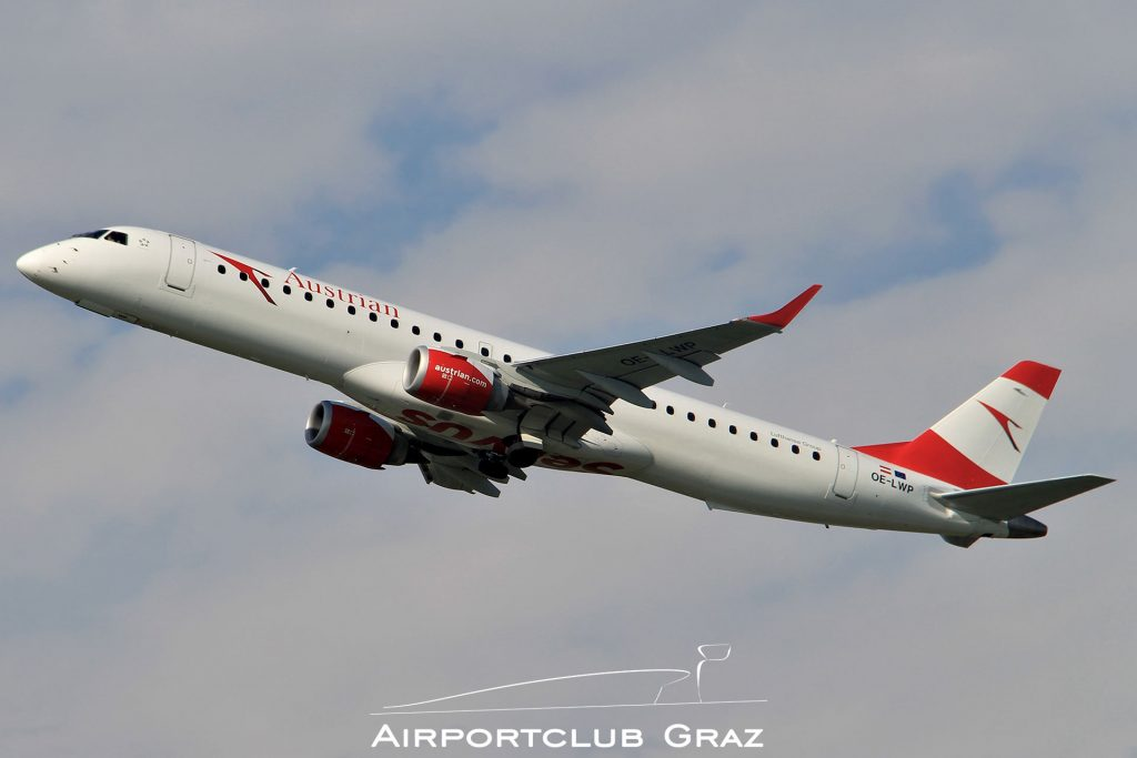 Austrian Airlines Embraer 195 OE-LWP
