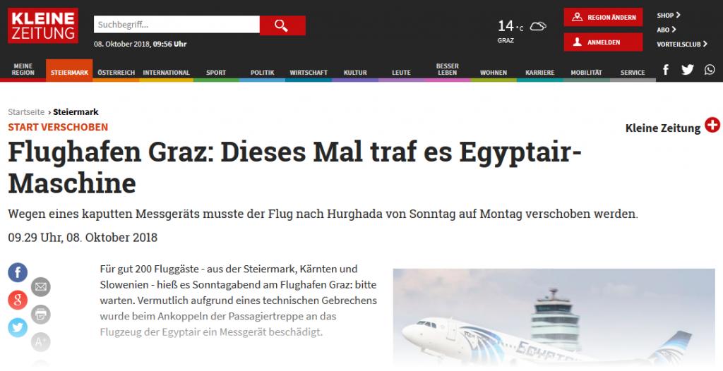 © Screenshot Kleine Zeitung Online