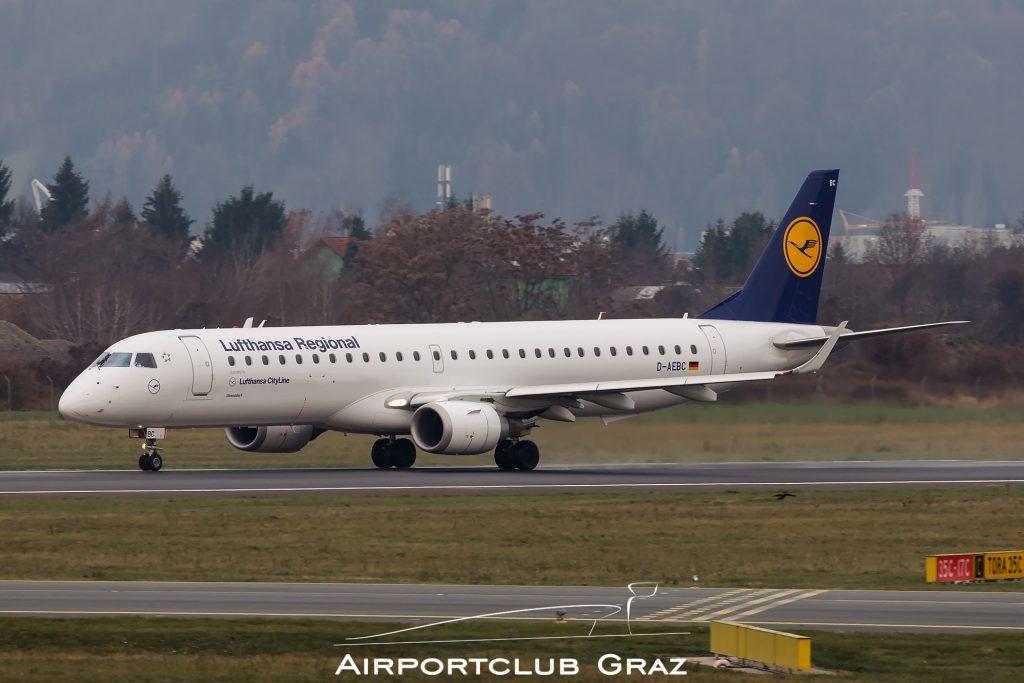 Lufthansa Cityline Embraer 195 D-AEBC