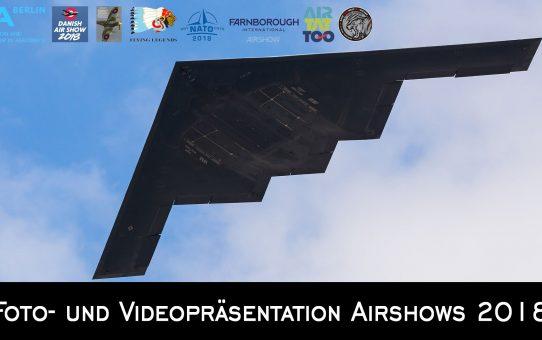 Foto- und Videopräsentation Airshows 2018