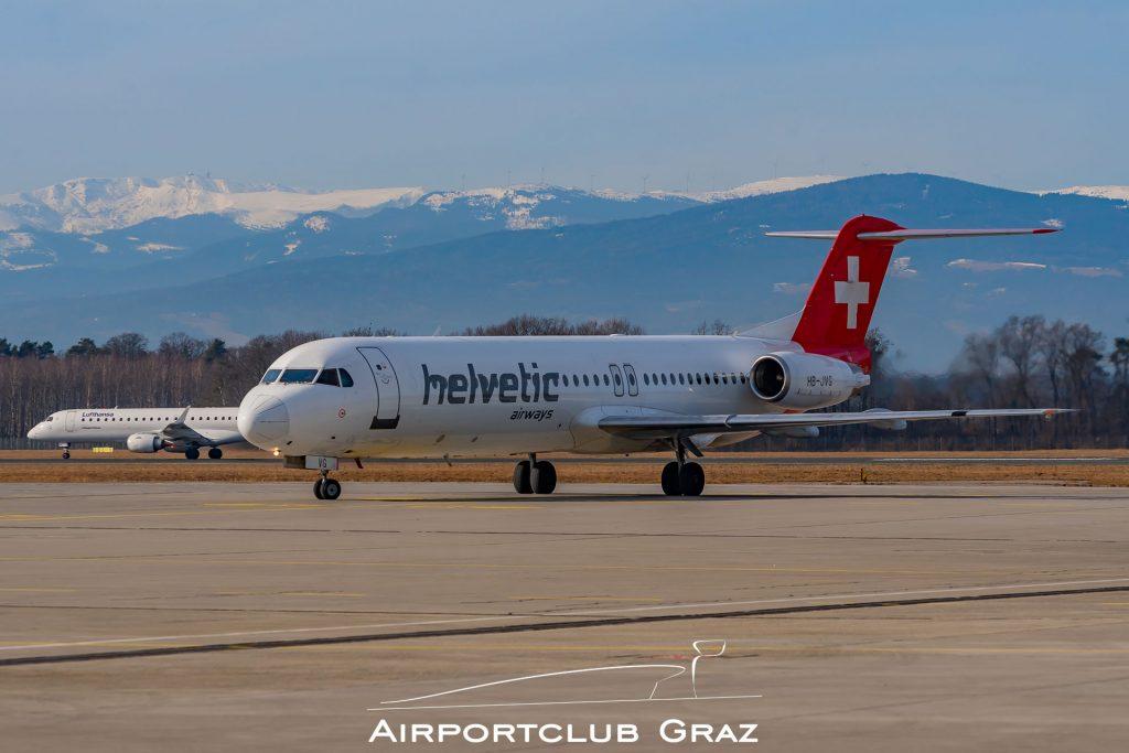 Helvetic Airways Fokker 100 HB-JVG