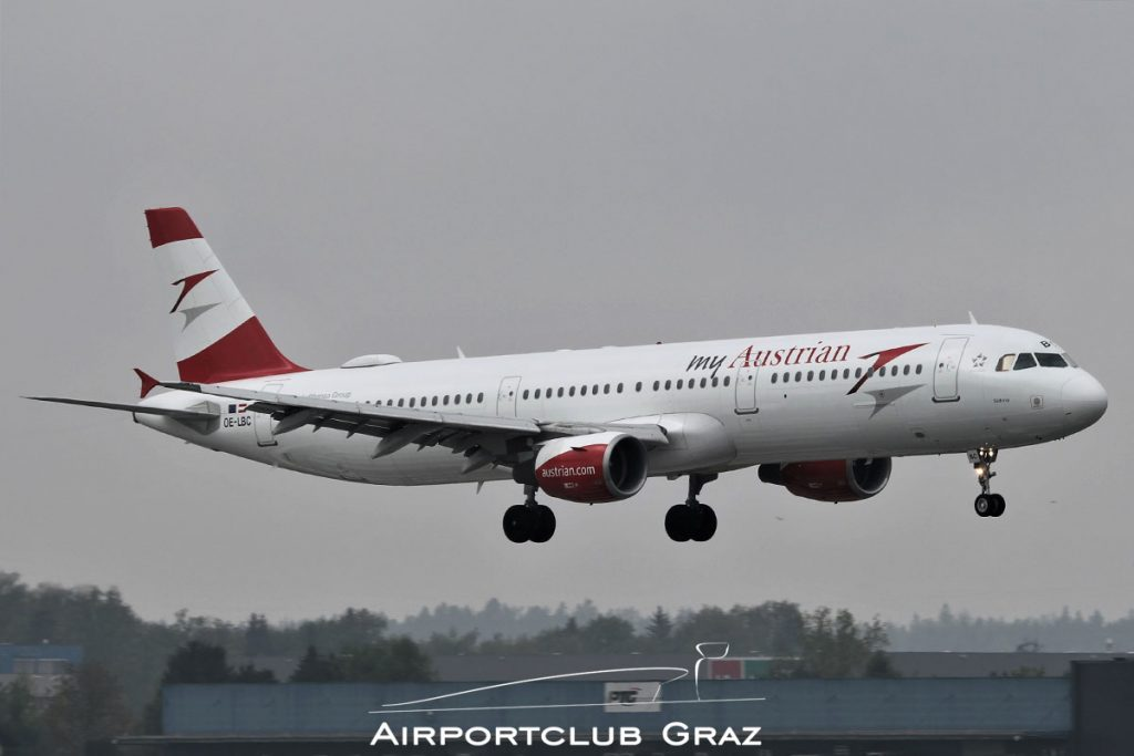 Austrian Airlines Airbus A321-111 OE-LBC