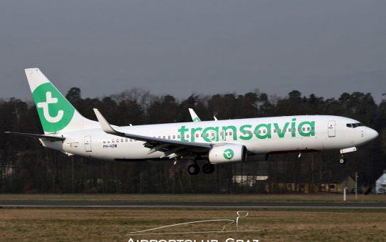 Transavia erneut für Flugtraining in Graz