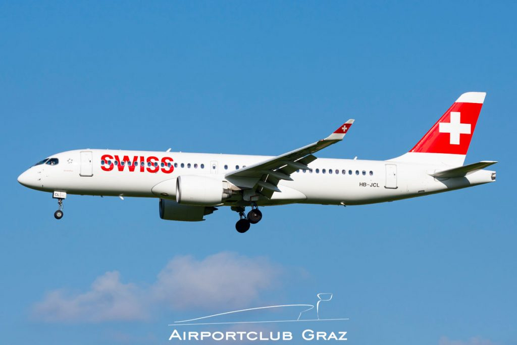 Swiss Airbus A220-300 HB-JCL