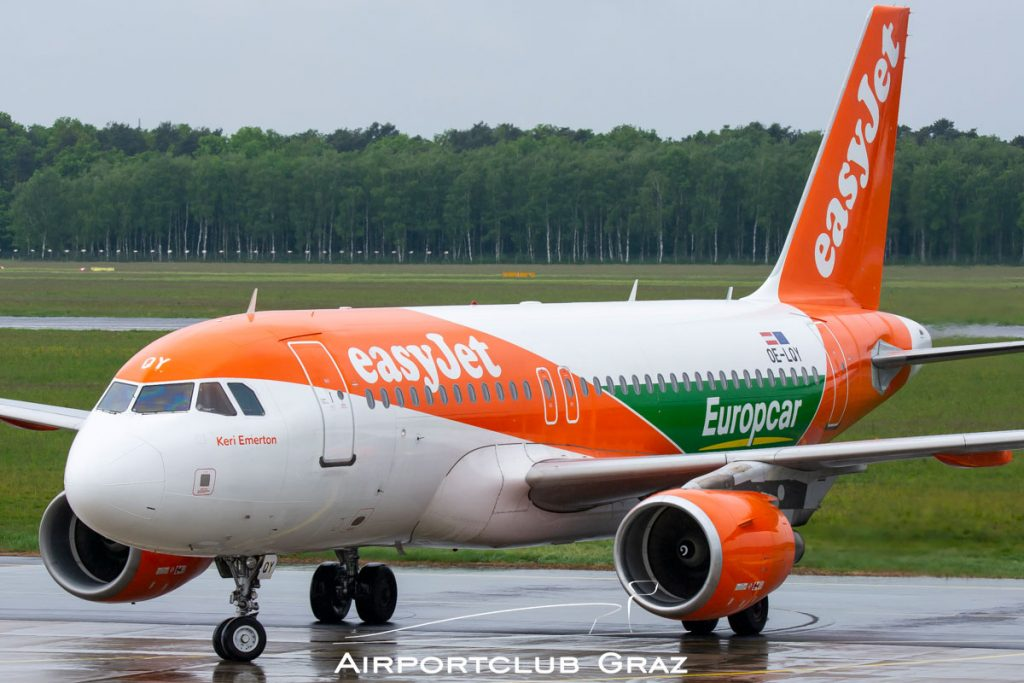 easyJet Airbus A319-111 OE-LQY