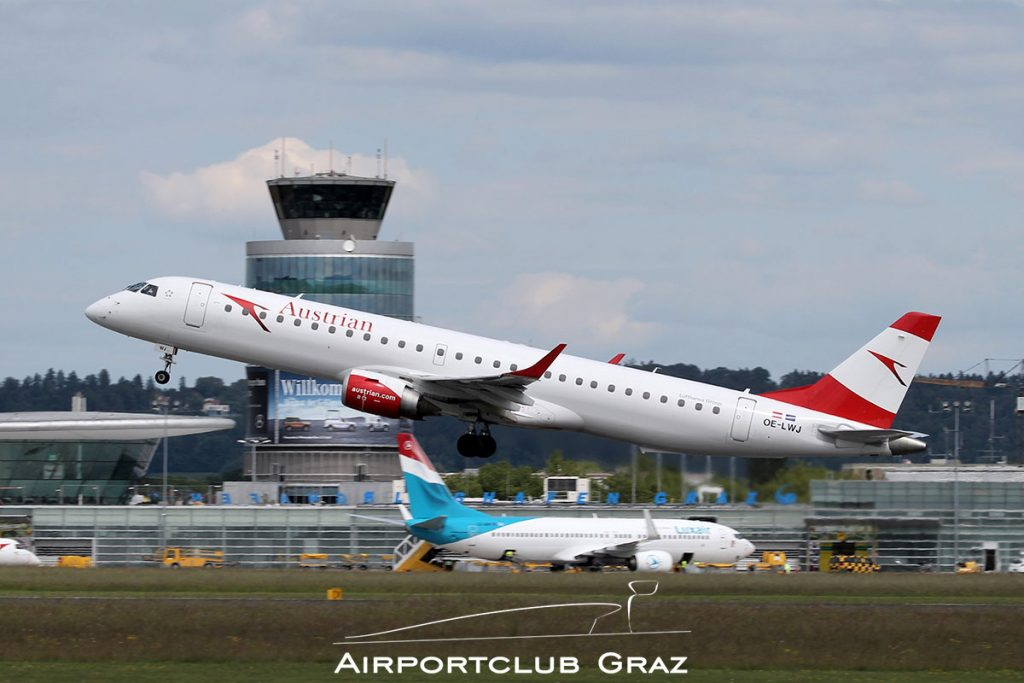 Austrian Airlines Embraer 195 OE-LWJ