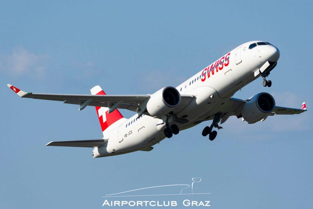 Swiss Airbus A220-300 HB-JCS