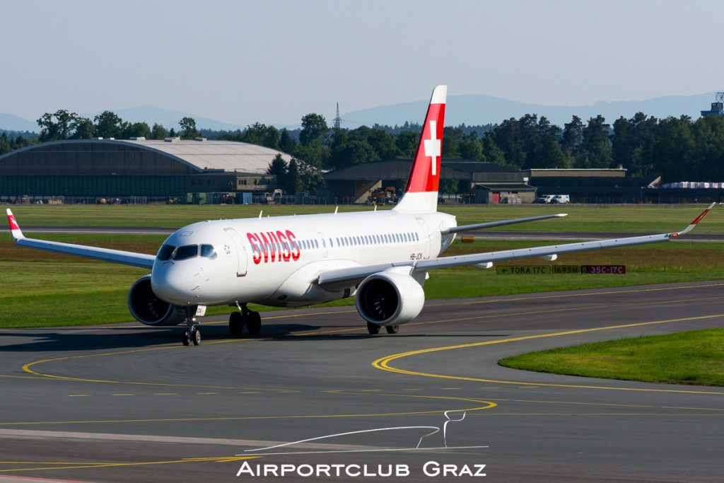 Swiss Airbus A220-300 HB-JCN