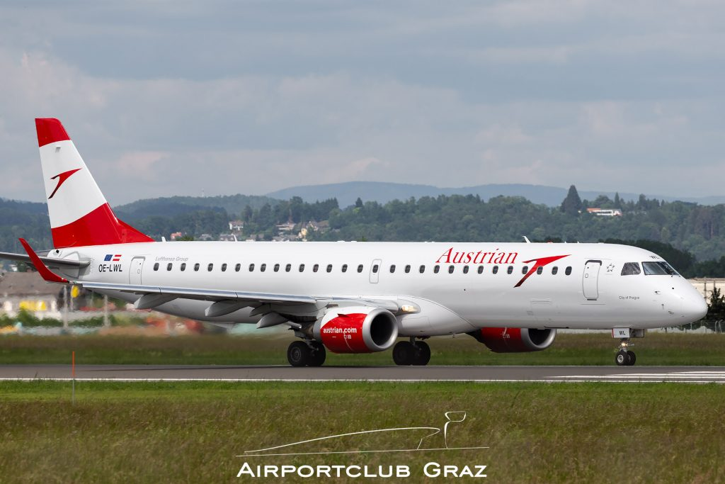 Austrian Airlines Embraer 195 OE-LWL