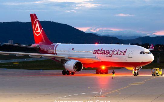AtlasGlobal Airbus A330 in Graz