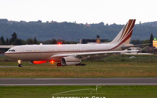 Airbus A330CJ zu Gast in Graz