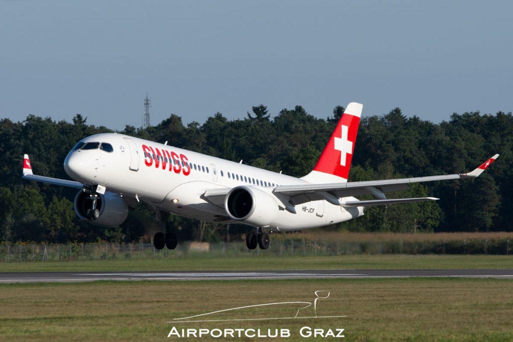Swiss Airbus A220-300 HB-JCF
