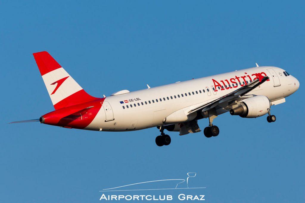 Austrian Airlines Airbus A320-214 OE-LBL
