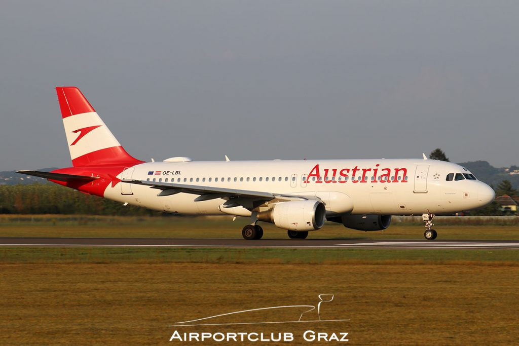 Austrian Airlines Airbus A320-214 OE-LBL