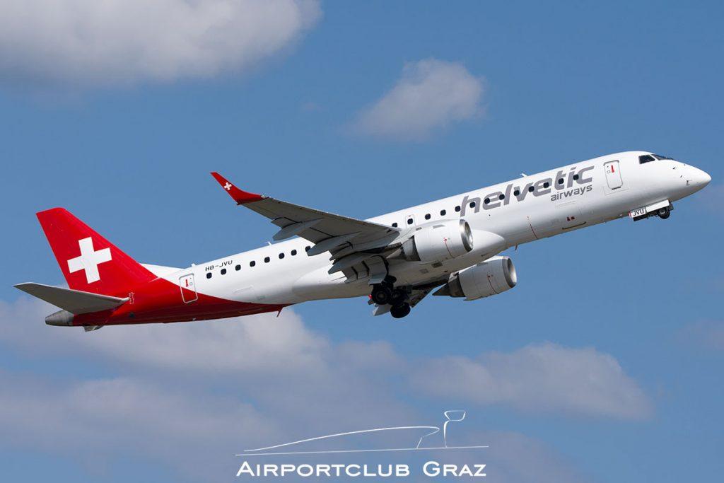 Helvetic Airways Embraer 190 HB-JVU