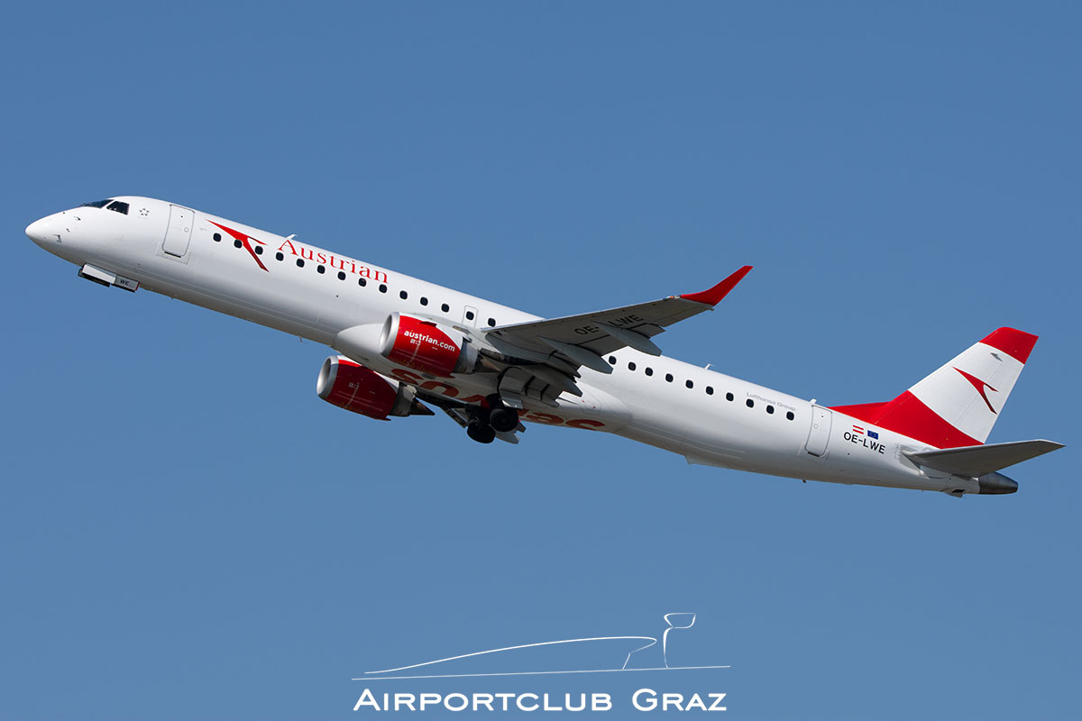 Austrian Airlines Embraer 195 OE-LWE