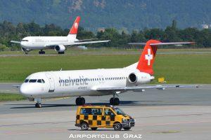 Helvetic Airways Fokker 100 HB-JVH