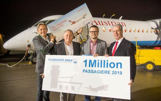 Flughafen Graz begrüßt millionsten Passagier so früh wie noch nie