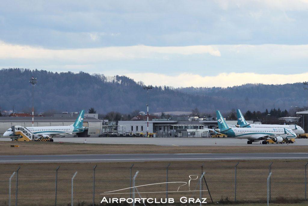 Air Dolomiti Embraer 195 Flughafen Graz