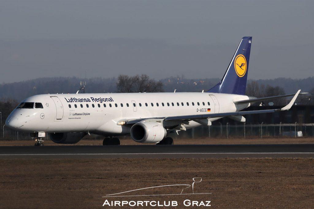 Lufthansa Cityline Embraer 190 D-AECG