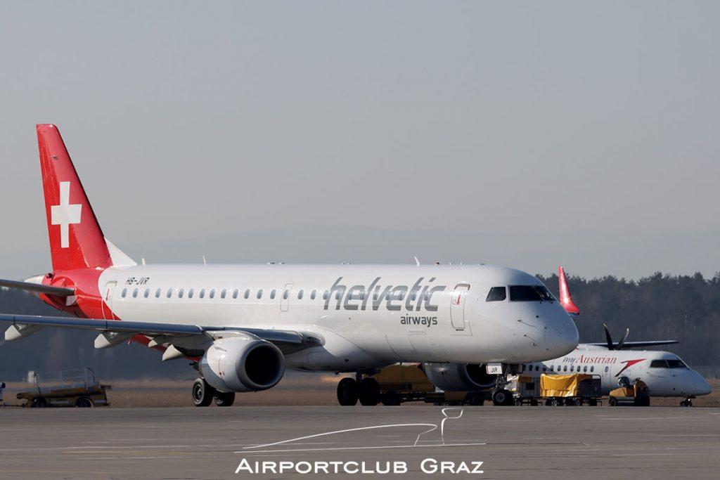 Helvetic Airways Embraer 190 HB-JVR