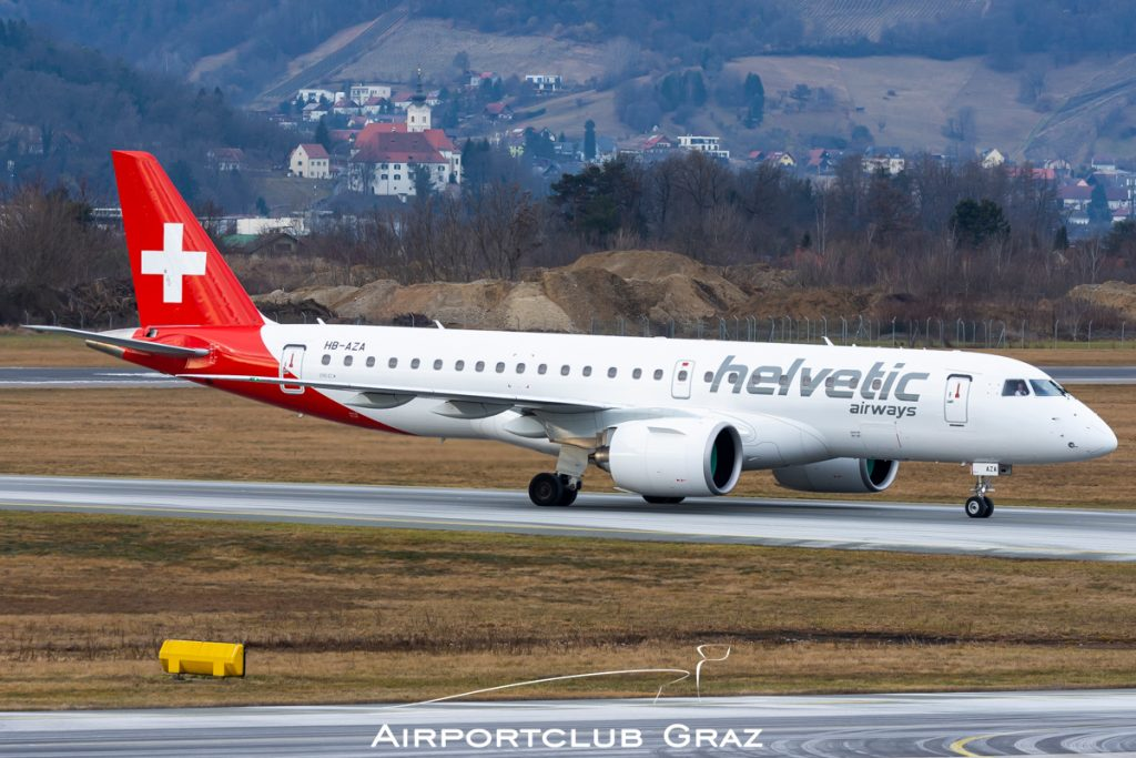 Helvetic Airways Embraer 190-E2 HB-AZA
