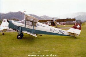 De Havilland DH.87 Hornet Moth HB-UBD