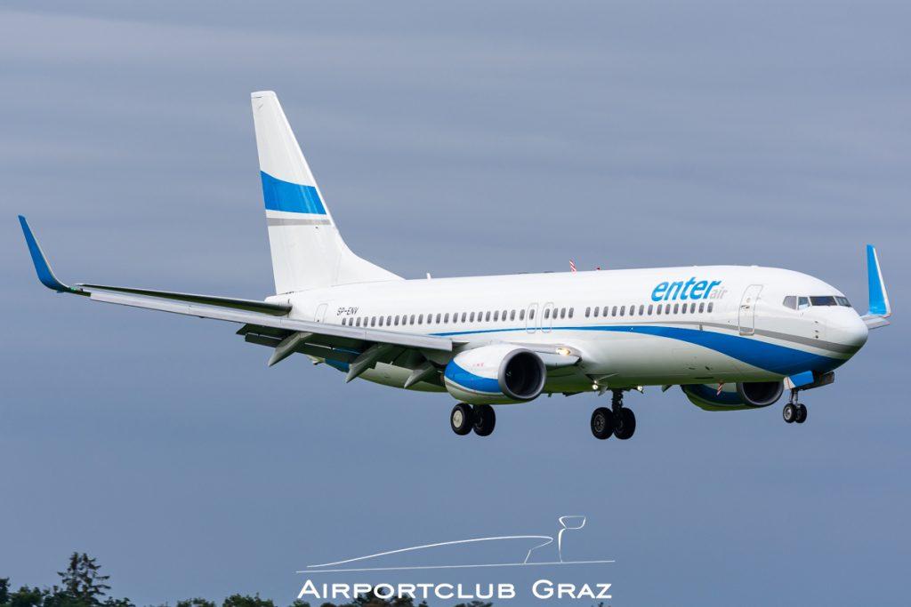 Enter Air Boeing 737-8BK SP-ENV