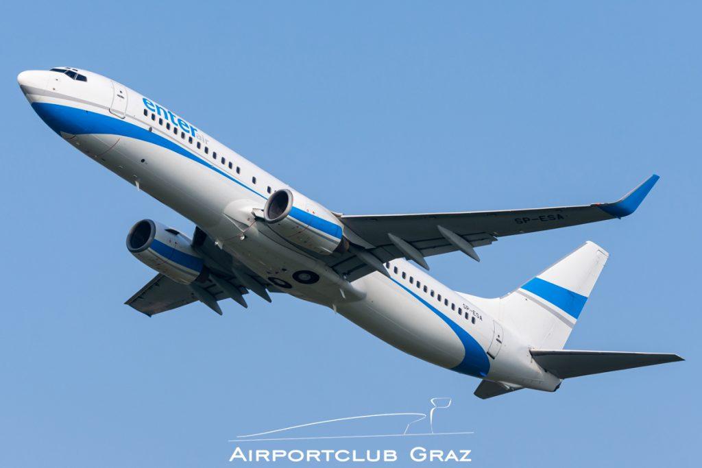 Enter Air Boeing 737-8Q8 SP-ESA