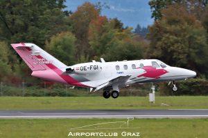 Pink Sparrow Cessna 525A CitationJet CJ2 OE-FGI