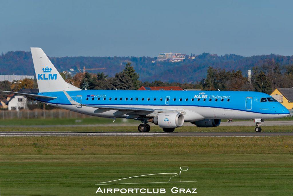KLM Cityhopper Embraer 190 PH-EZL