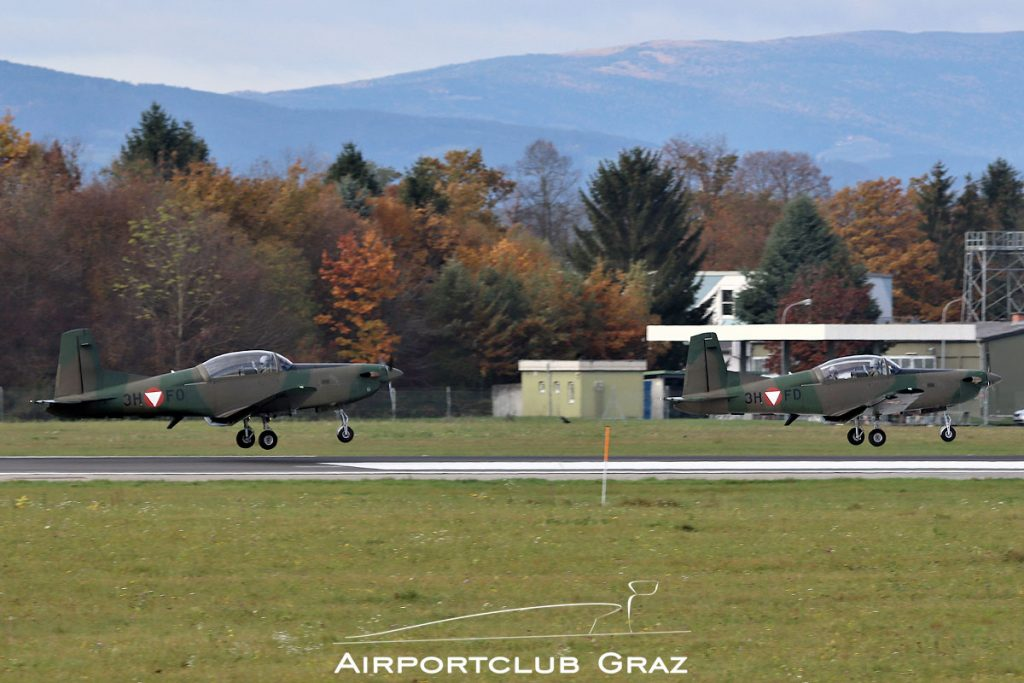 Bundesheer Pilatus PC-7 3H-DF 3H-FO