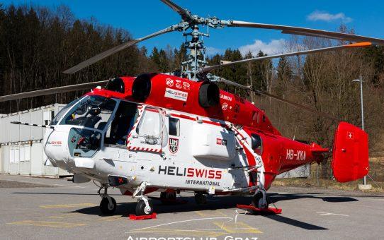 Heliswiss Kamow Ka-32A im Einsatz beim LKH Graz