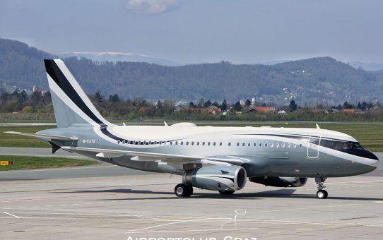 Sophar Airbus A319CJ in Graz