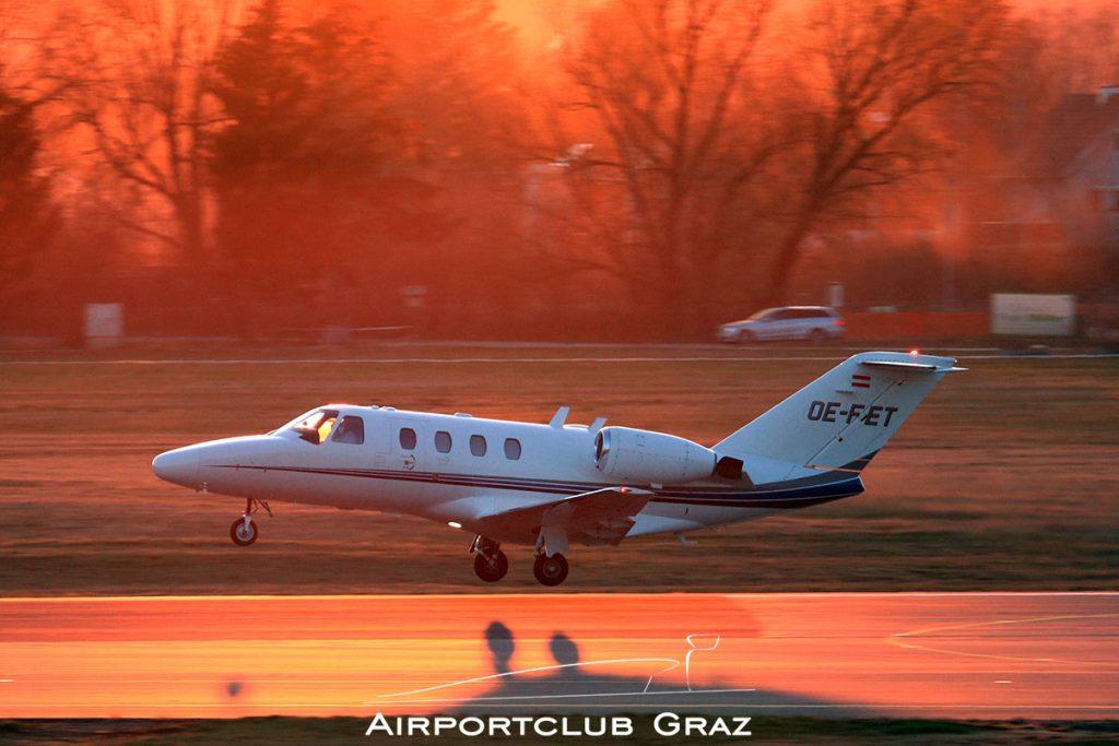 Braunegg Lufttaxi Cessna 525 CitationJet 1 OE-FET