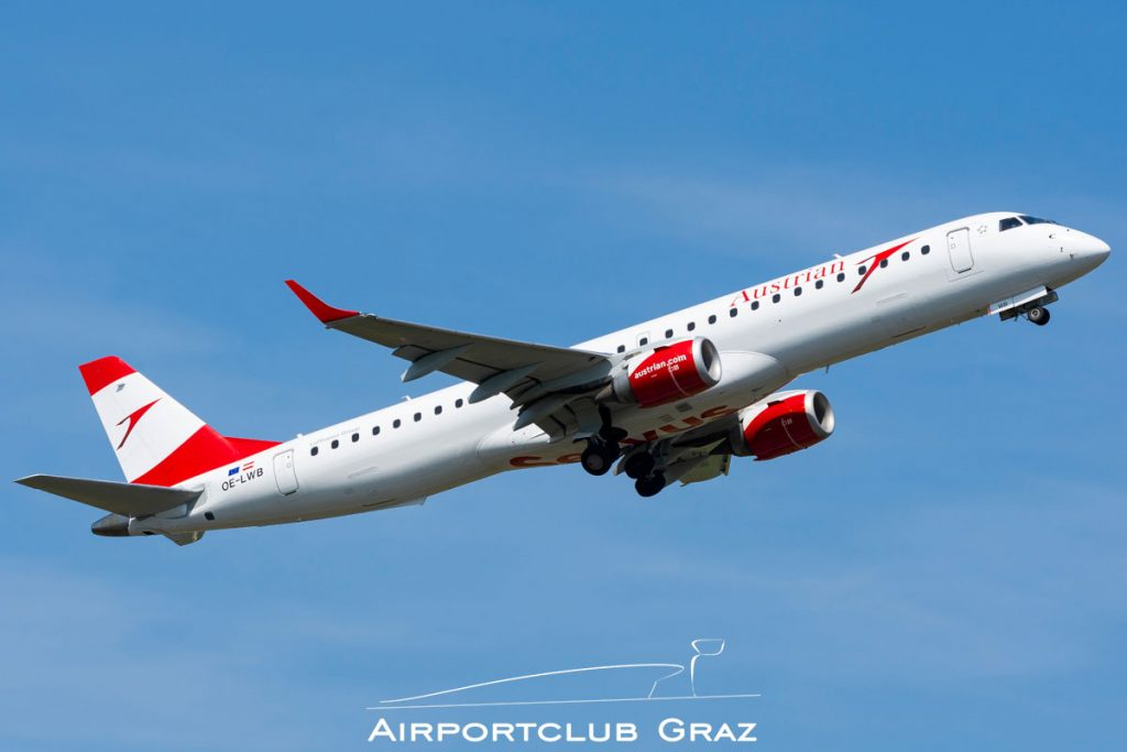 Austrian Airlines Embraer 195 OE-LWB