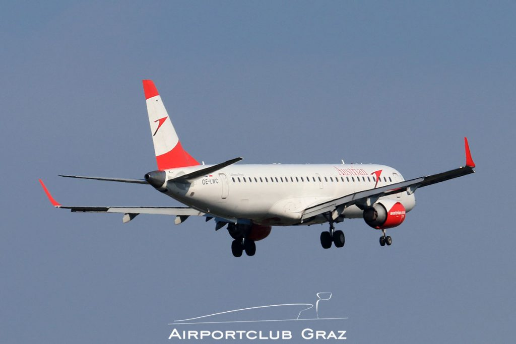 Austrian Airlines Embraer 195 OE-LWC