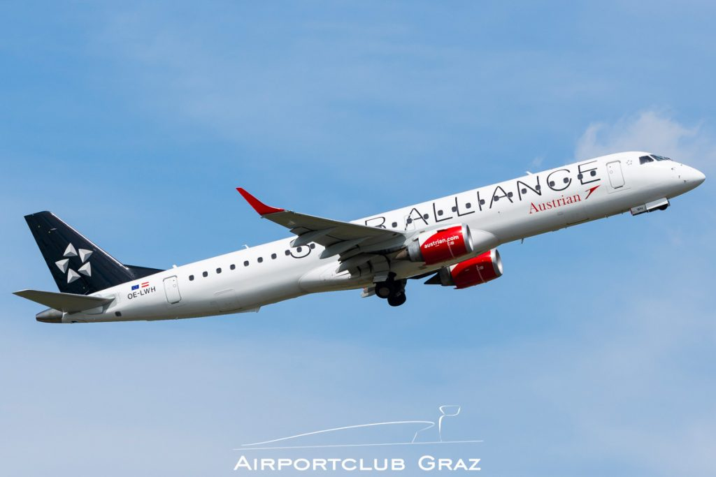 Austrian Airlines Embraer 195 OE-LWH