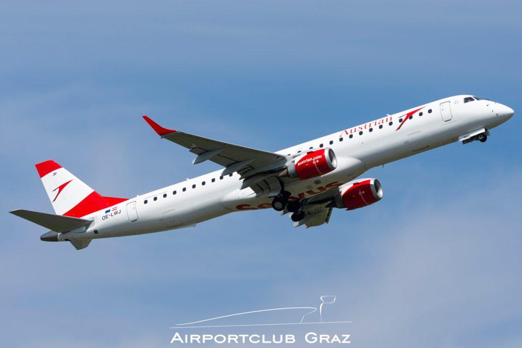 Austrian Airlines Embraer 195 OE-LWJ