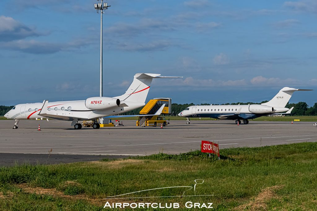 Gulfstream G550 N76VZ Bombardier Global 6000 N711LS